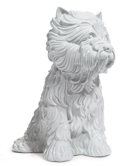 jeff koons puppy vase jeff koons american 1955 puppy vase in the form of west highland terrier 1998