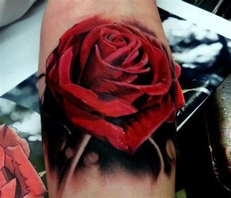best rose tattoos ever realistic flower tattoos the best flower tattoos part