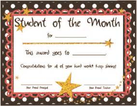 free printable student of the month certificate templates these are student of the month certificates i