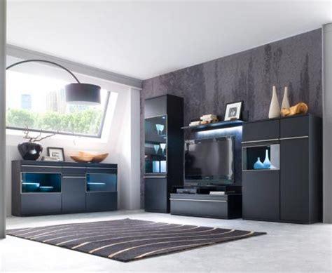 wohnzimmer schrankwand schwarz wow wohnwand sideboard matt schwarz edelstahl anbauwand