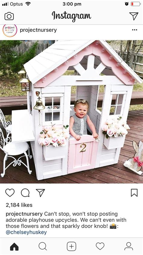 pin  veronica sanchez  cubby house play houses