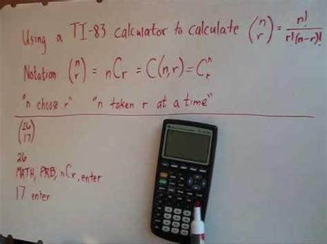 calculator ncr evaluating ncr using a calculator ti 83 youtube