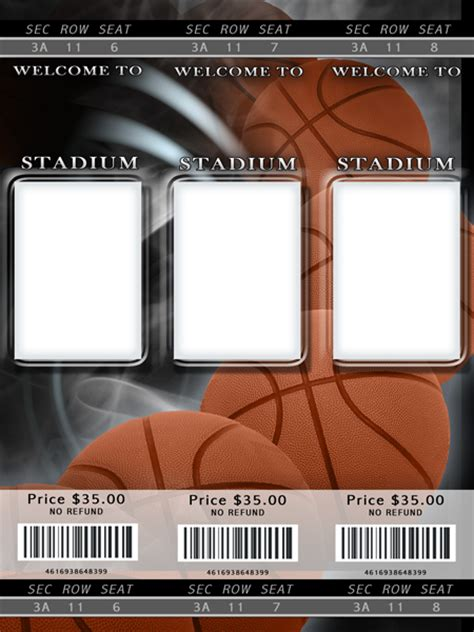 Basketball Photo Templates Basketball Ticket Template Free