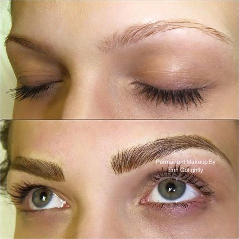 eyebrow tattoo chicago microblading by erin golightly naperville
