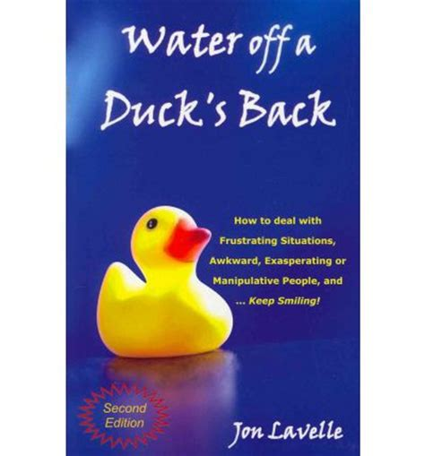 water a duck darley novel books water a duck s back how to deal with frustrating