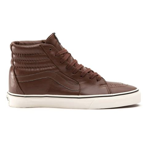 buy vans sk8 hi aged leather boots in brown
