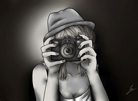 photography camera wallpaper black and white black and white drawing of girl with camera wallpaper for