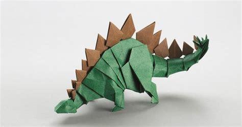 Origami Paper Canada - quot dinausaure quot selon la m 233 thode du pliage origami par joseph