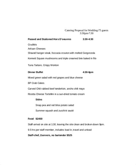 Catering Proposal Template 9 Free Word Pdf Documents Catering Rfp Template