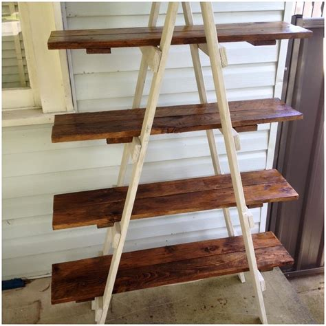 82 diy ladder shelf plans diy painters ladder shelf