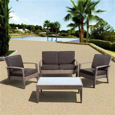 Outdoor Cushions Venice Fl Hton Bay Blue Hill 5 Patio Conversation Set With