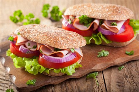 Fast Food Cutting Food wallpapers two buns fast food butterbrot food vegetables