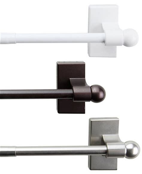 temporary curtain rod rod desyne magnetic curtain rod 17 30 quot macy s