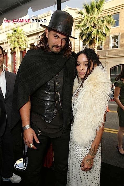 lisa bonet and husband jason momoa at premiere of celebrity stalking lisa bonet husband jason momoa zoe