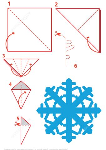 Folding Paper To Make A Snowflake - snowflake folding free printable papercraft