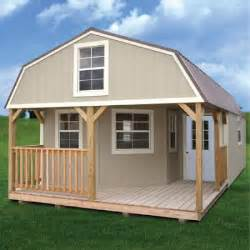 Storage House by Rent To Own Painted Deluxe Lofted Barn Cabin