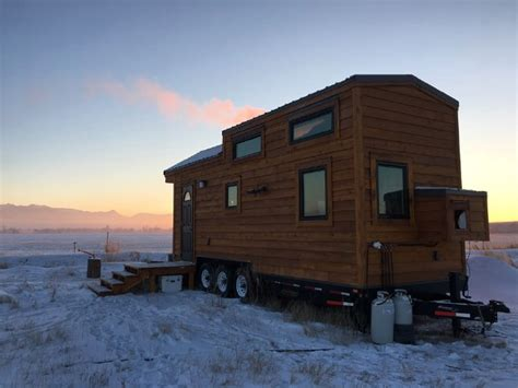 Small Homes For Sale Montana Beautifully Rustic Grid 280 Square Foot Tiny House For