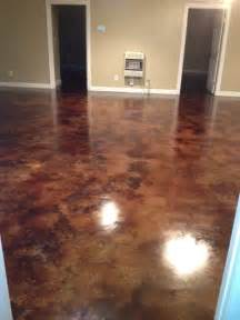 stained concrete in basement how to acid staining basement floors direct colors inc