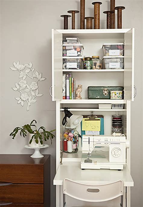 Kitchen Corner Cupboard Ideas 15 small sewing spaces that inspire