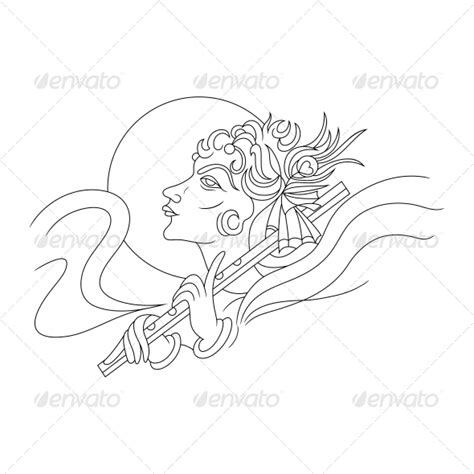 Outline Pictures Of God Krishna by Hindu Lord Krishna Religious Vector Design Graphicriver