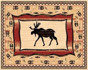pw rugs pw lodge369 4x5 moose rustic cabin area rug 4 x 5