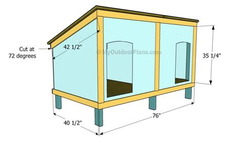 Dog House Plans For Two Large Dogs Lovely Merry Dog House Plans For Two Small Dogs 10