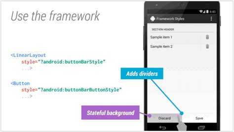android linearlayout xml adding borderless buttons in android xml with divider