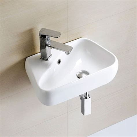 hand basins for bathrooms eton right hand wall mounted basin