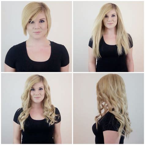 hair extensions for short hair before after gorgeous before and after hair transformation achieved