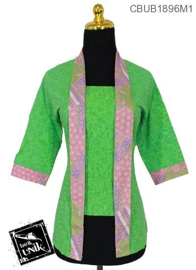 Blus Batik Kutu Baru Embos Kode Ba6633 blus tanggung kutu baru motif kembang ceplok blus