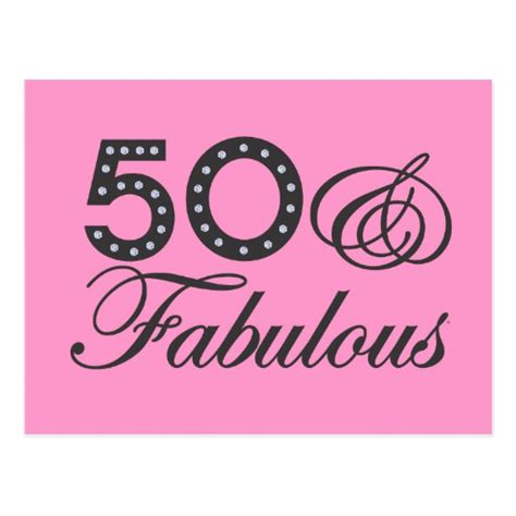 Be Fabulous 50 50 fabulous gift postcard zazzle
