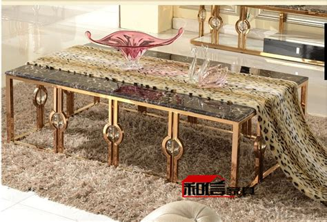 after the gold stainless steel coffee table end