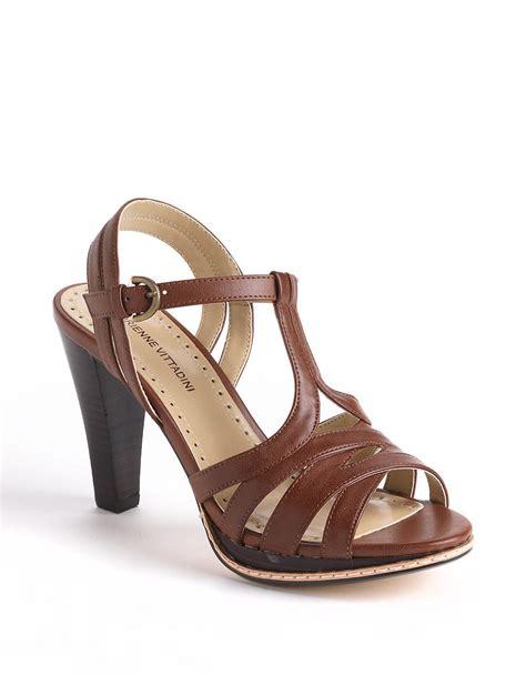 adrienne vittadini sandals adrienne vittadini atlas leather platform sandals in brown