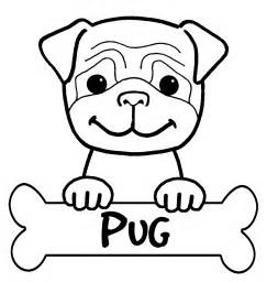 Pug Dag Colouring Pages sketch template