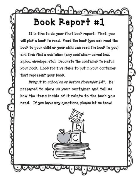 book reports to copy mrs smith s 1st grade