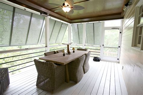 Dazzling Plantation Blinds method Raleigh Contemporary Porch Decoration ideas with bahama