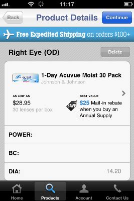 1-800 Contacts App for iPhone Review - The App Times 1 800 Contacts Order