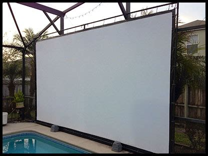 diy backyard projector screen carl s place projector screen kits outdoor projection
