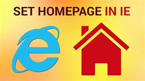 how to set a homepage in internet explorer with pictures how to set a homepage on internet explorer youtube