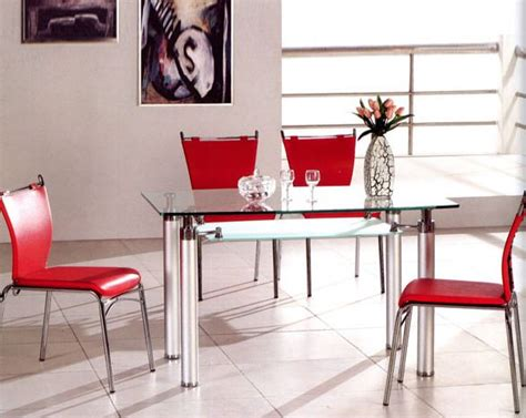 Metal Dining Table W Glass Top Ol Dt17 Metal Dining Set W Glass Top Ol Dt34s