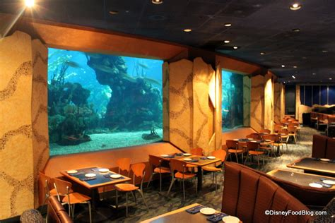 Dining Room Tables For 12 by Review Coral Reef Restaurant The Disney Food Blog