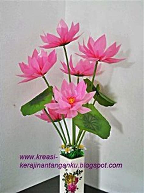 membuat bunga  sedotan plastik bekas
