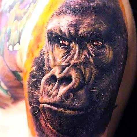 3d gorilla tattoo