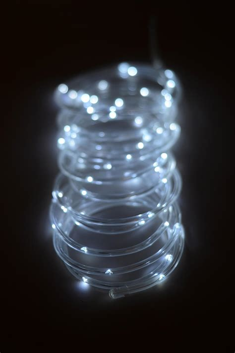 small battery lights battery operated mini led rope light cool white 15ft 60ct