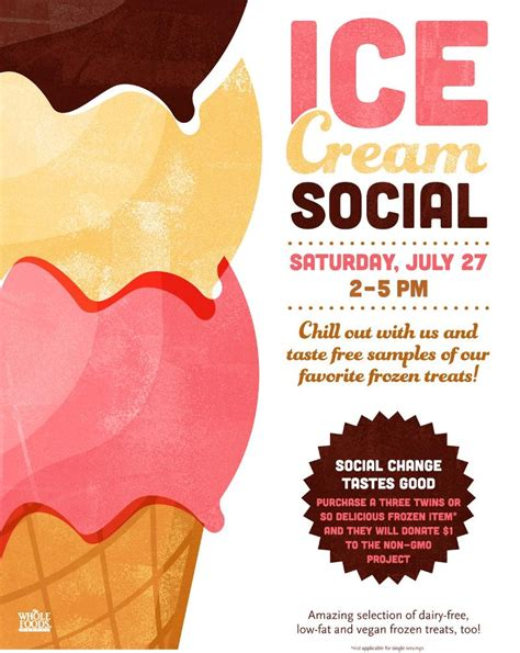 Ice Cream Social Invitation Template Social Flyer Word Template