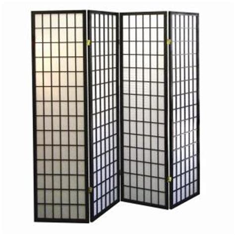 room dividers home depot home decorators collection 5 83 ft black 4 panel room divider r530 4 the home depot