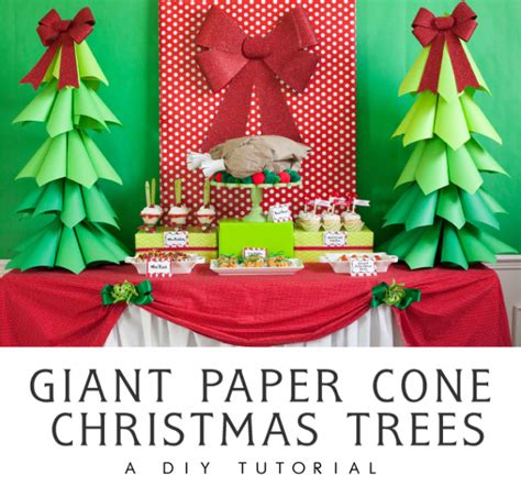How To Make A Paper Cone Tree - ombre paper cone trees a diy tutorial