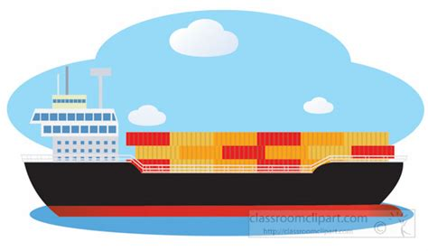 cargo boat clipart boats and ships clipart cargo ship on the ocean clipart