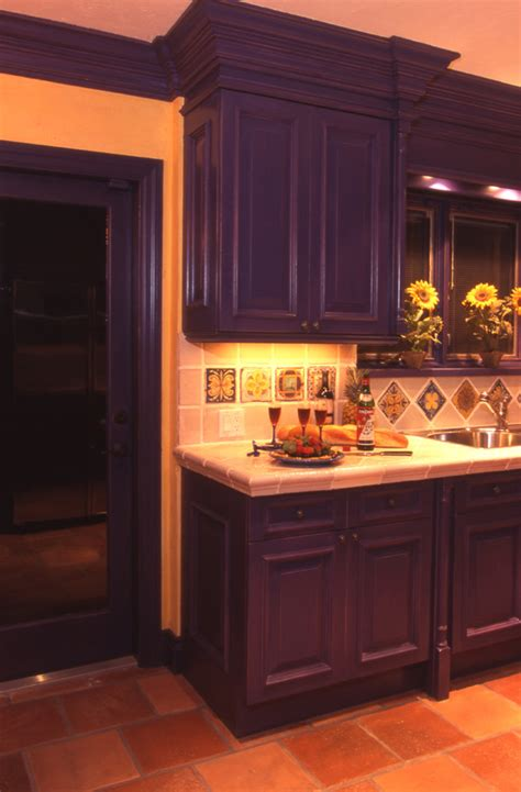 purple cabinets kitchen 50 inspiring purple theme colour for kitchen decohoms
