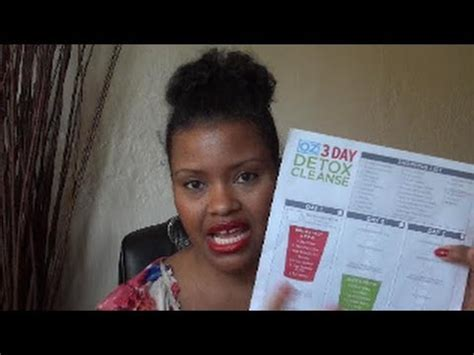 Dr Oz Three Day Detox Reviews by Dr Oz 3 Day Detox Cleanse I Lost 1 Pound A Day Review